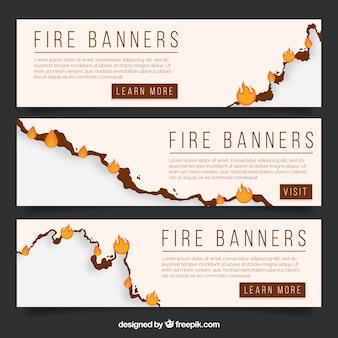 Продажа баннеров с огнем
