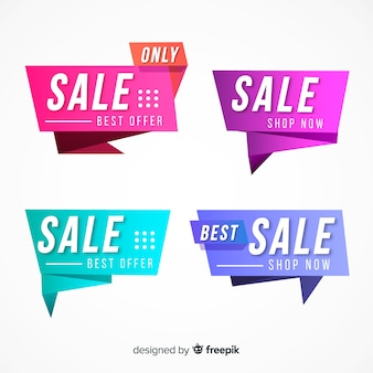 Sale banners