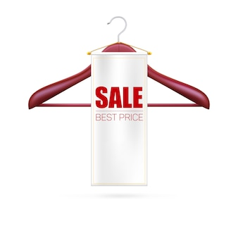 Sale best price. hangers of clothes and tag.