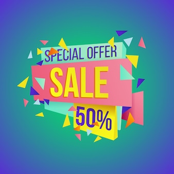 Sale big final discounts and great deals banner template