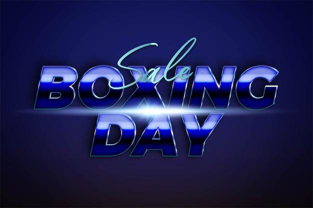 Распродажа boxing day с металлической серебристо-лазурной цветовой концепцией для модных флаеров и шаблонов баннеров для продвижения в социальных сетях в интернете