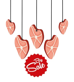 Sale of butcher products