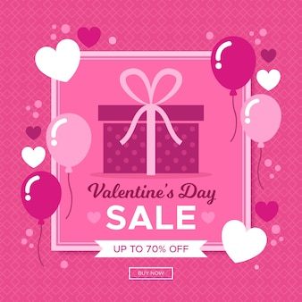 Sale campaign on valentines day