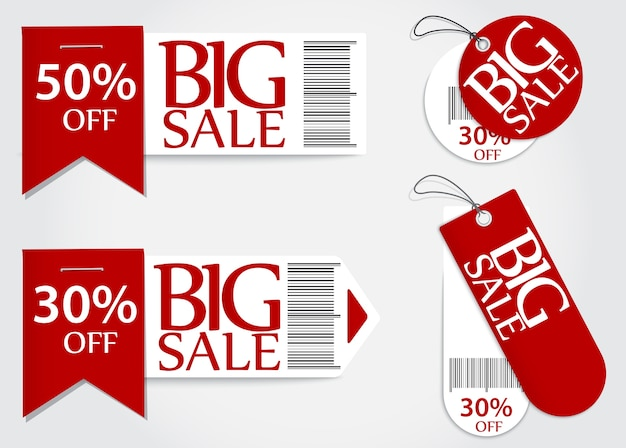 Sale card red promotion percentage retail