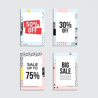 Sale cards collection