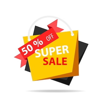 Sale composition with geometric shapes