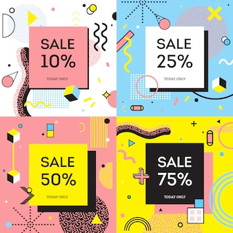 Sale concept memphis style