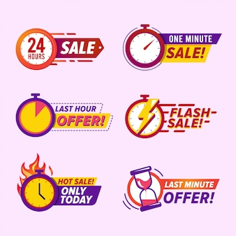 Sale countdown badges