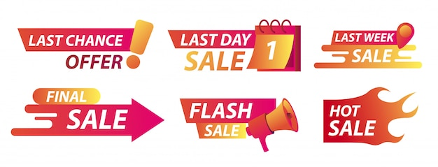 Sale countdown banner set