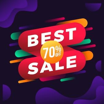Sale discount banner labels background