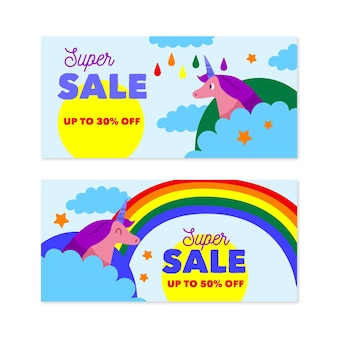 Sale discount banners designs