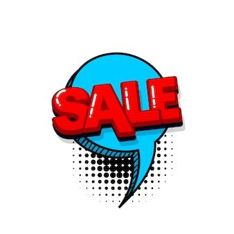 Sale discount comic text sound effects pop art style vector speech bubble word cartoon