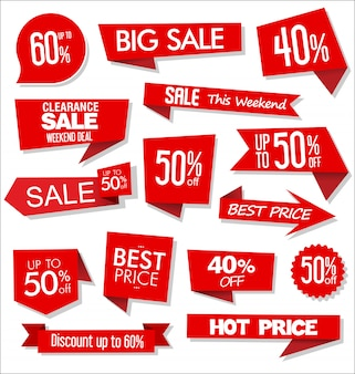 Sale discount labels or tags design