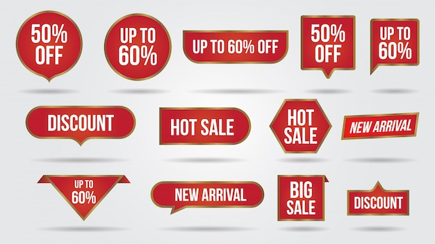 Sale discount lebel collection banner and icons corners, labels, curls and tabs.shopping tags