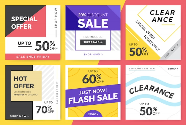 Sale and discount promo backgrounds
