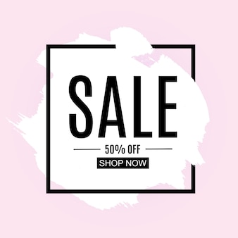 Sale and discount promo banner