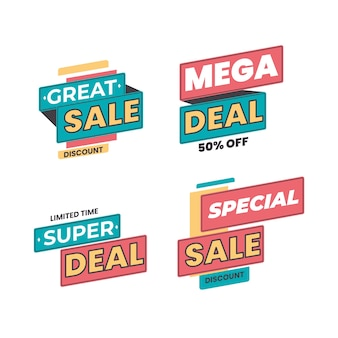 Sale and discount promo banners collection