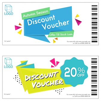 Sale discount vouchers in two design options.