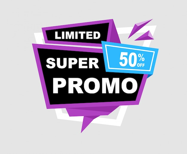 Sale and discounts banner template design.