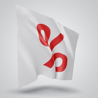 Sale and discounts on vector 3d flag isolated on white background