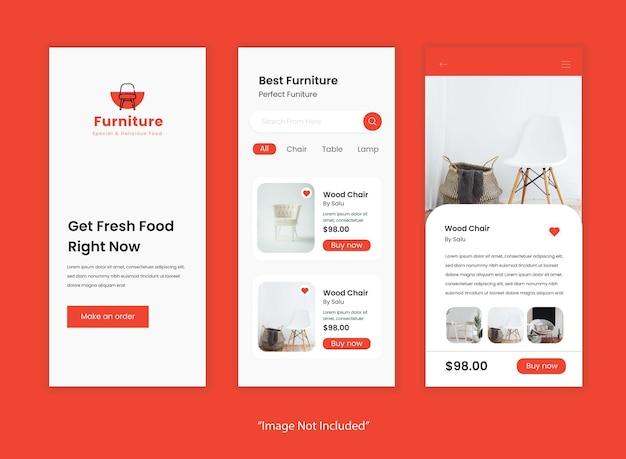 판매 전자 상거래 가구 앱 컨셉 ui 디자인