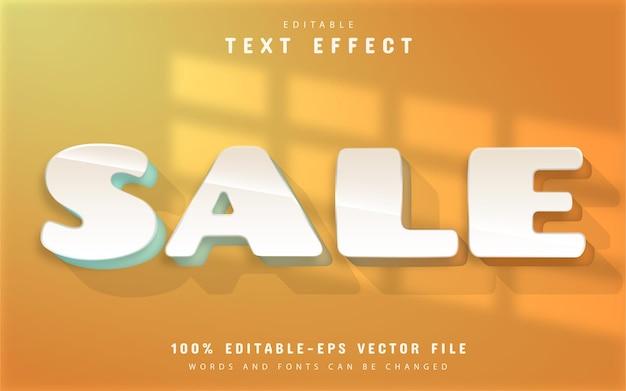 Sale editable 3d text effect