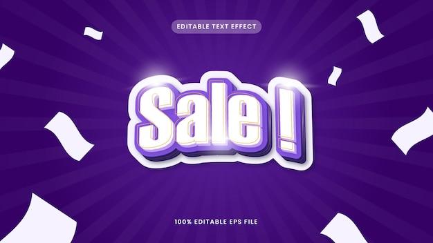 Sale editable text effect