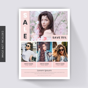Sale Fashion Promotional Flyer Template