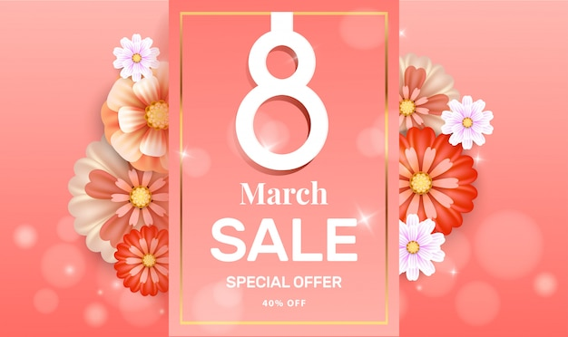 Sale flyer for 8 march