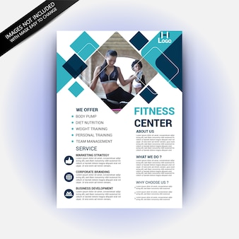 Sale flyer template with fashion concept