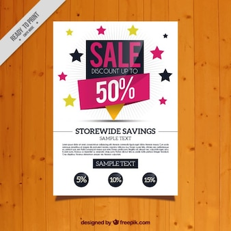 Sale flyer with stars