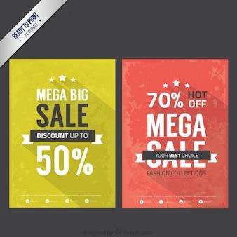 Продажа листовок в винтажном стиле