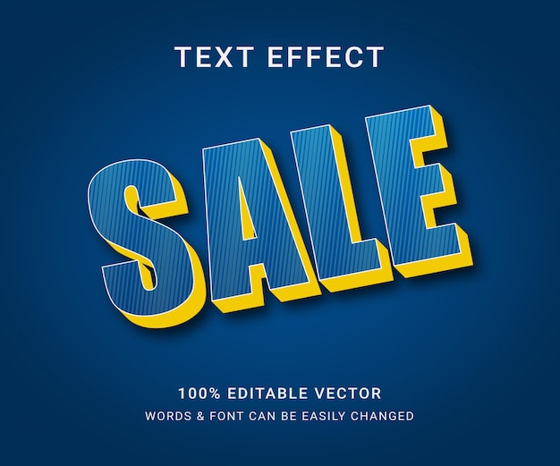 Sale full editable text effect