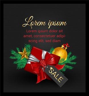 Продажа подарочных коробок черная пятница рекламный вектор