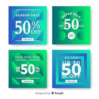Sale gradient instagram post collection