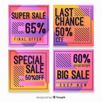 Продажа градиента instagram пост коллекции