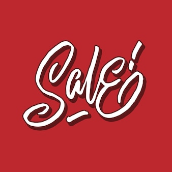 Sale hand lettering typography poster
