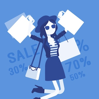 Sale for happy girl