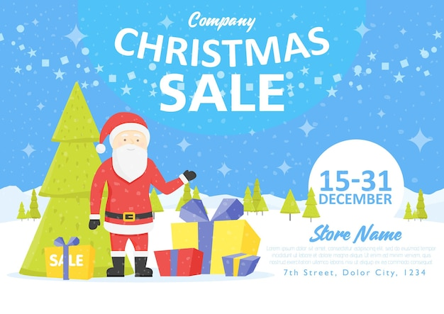 Sale holiday website banner templates. christmas and new year illustrations for social media banners, posters, email and newsletter designs, ads, promotional material.