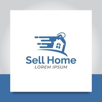 Продажа домашнего логотипа дизайн быстрая флэш-распродажа скидка для бизнеса коммерция
