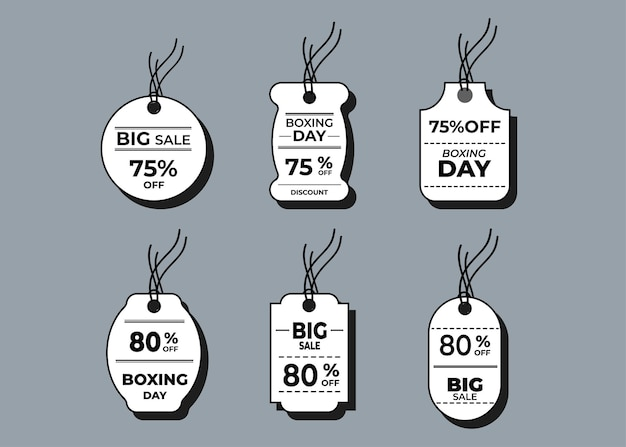 Sale horizontal labels and price tag, selling card and discount sticker.