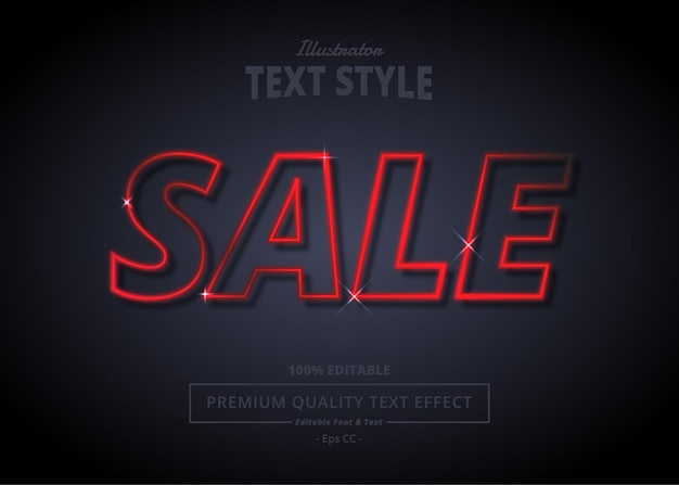 Sale illustrator text effect