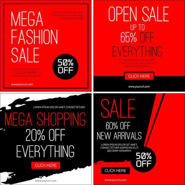 Sale instagram banners set for black friday sale