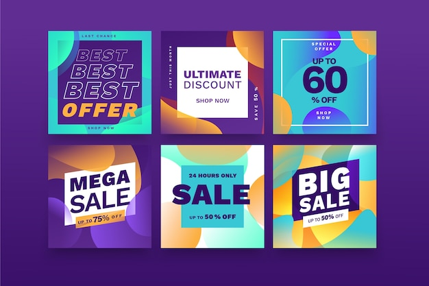 Sale instagram post collection template