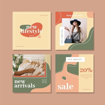 Sale instagram posts set