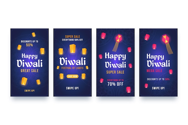 セールinstagram stories diwali event