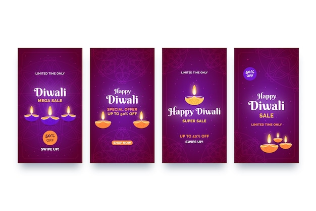 Sale instagram stories diwali