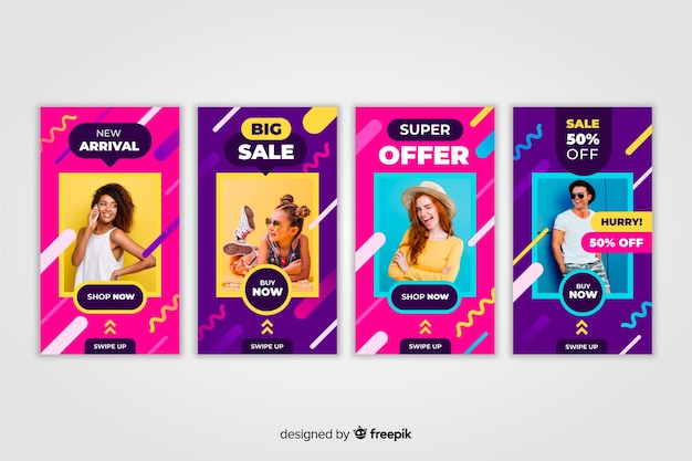 Sale instagram stories template collection