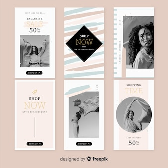Sale instagram stories template set