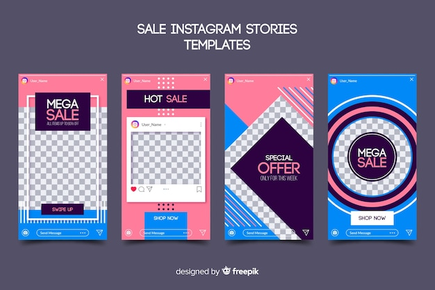 Sale instagram stories templates collection